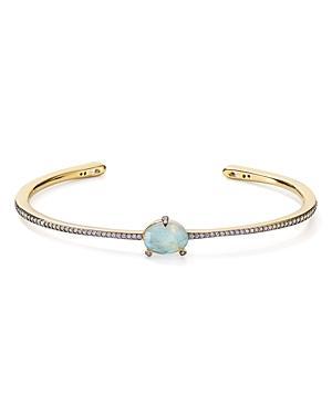 Nadri Agean Open Bangle Bracelet In 18k Gold-plated Sterling Silver