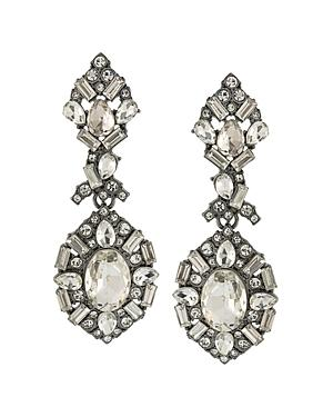 Abs By Allen Schwartz Embellished Chandelier Earrings