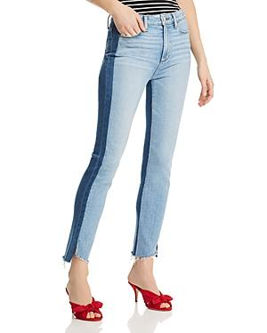 Paige Two-tone Hoxton Slim Jeans In Lizzie