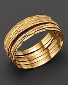 Roberto Coin 18k Yellow Gold Plated Sterling Silver Large Bangle