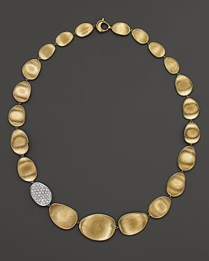 Marco Bicego Diamond Lunaria Collar Necklace In 18k Gold, 16.5