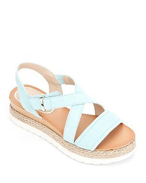 Kenneth Cole Women's Jules Crossover Espadrille Platform Sandals