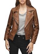 Reiss Torre Leather Biker Jacket
