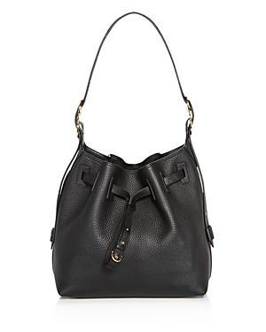 Salvatore Ferragamo Carla Pebbled Leather Bucket Bag