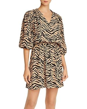 Rebecca Minkoff Isabella Tiger-print Mini Dress