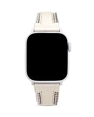 Rebecca Minkoff Apple Watch Metallic Zipper-edge Leather Strap, 38mm & 40mm