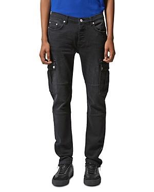 The Kooples Utility Slim Fit Jeans In Black
