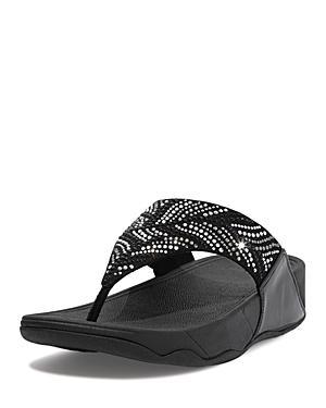 Fitflop Women's Lulu Embellished Slip On Wedge Sandals