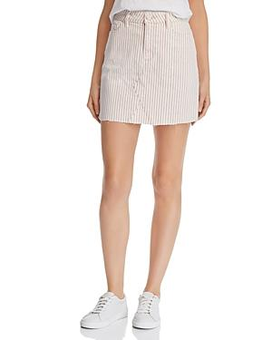 Paige Aideen Denim Mini Skirt In Blossom Pink Stripe - 100% Exclusive