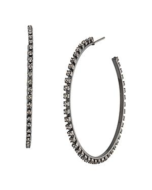 Abs By Allen Schwartz Shimmer Hoop Earrings
