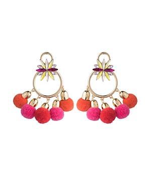 Abs By Allen Schwartz Pom Pom Chandelier Earrings - 100% Exclusive