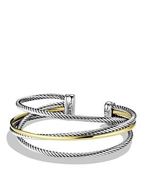 David Yurman Crossover Three-row Cuff With Gold