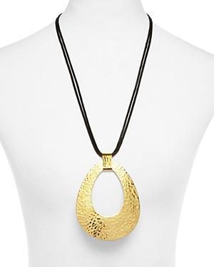 Natori Hammered Brass Necklace