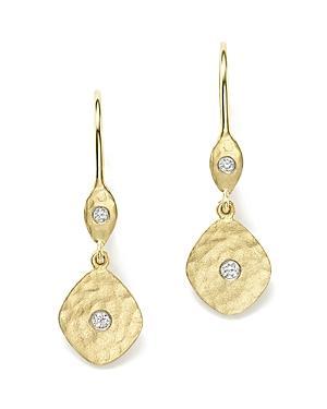 Meira T 14k Yellow Gold Kite Disc Earrings With Diamonds