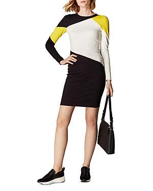 Karen Millen Color-block Paneled Ponte Dress