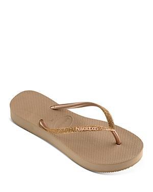 Havaianas Women's Slim Glitter Thong Platform Sandals