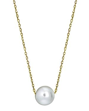 Aqua Cultured Freshwater Pearl Necklace In Sterling Silver Or 18k Gold-plated Sterling Silver, 15.5-17.5 - 100% Exclusive