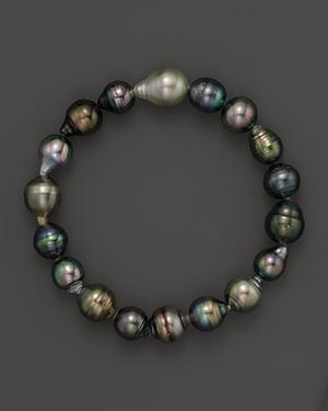 Tara Pearls Cultured Tahitian Pearl Stretch Bracelet