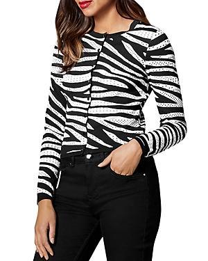 Karen Millen Zebra Stripe Cardigan