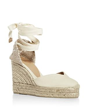 Castaner Women's Chiara Ankle Tie Wedge Espadrille Sandals