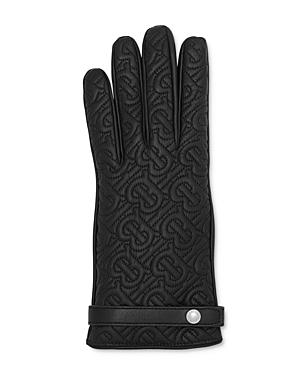 Burberry Quilted Monogram Leather Gloves