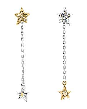 Karl Lagerfeld Paris Star & Chain Drop Earrings