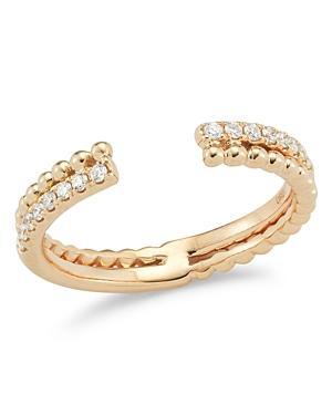 Dana Rebecca Designs 14k Rose Gold Poppy Rae Bypass Ring With Diamonds