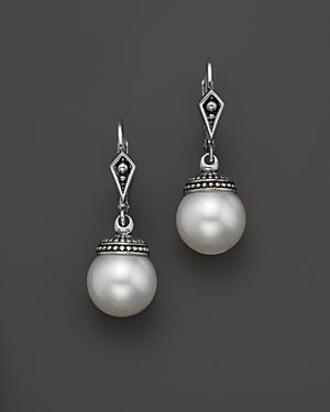 Lagos Sterling Silver Luna Freshwater Cultured Pearl Drop Earrings