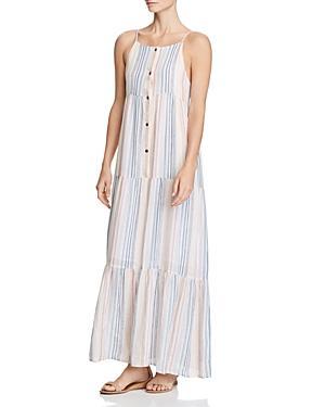 Splendid Tiered Striped Maxi Dress