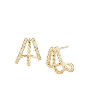 Dana Rebecca Designs 14k Yellow Gold Poppy Rae Huggie Hoop Earrings With Diamonds