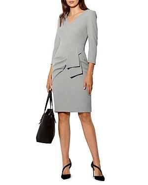 Karen Millen Drape-detail Pencil Dress