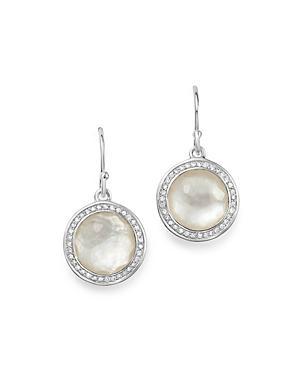 Ippolita Sterling Silver Lollipop Diamond & Mother-of-pearl Doublet Drop Earrings