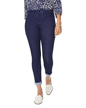 Nydj Petites Ami Skinny Cuffed Ankle Jeans In Rinse