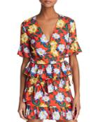 The Fifth Label Reunion Floral Wrap Top