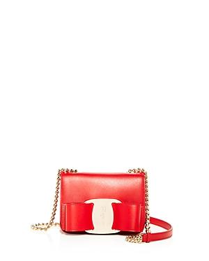 Salvatore Ferragamo Vara Oversized Bow Leather Crossbody