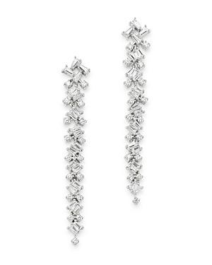 Bloomingdale's Diamond Scatter Drop Earrings In 14k White Gold, 1.0 Ct. T.w. - 100% Exclusive
