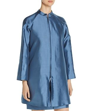Emporio Armani Pleated-back Zip Coat