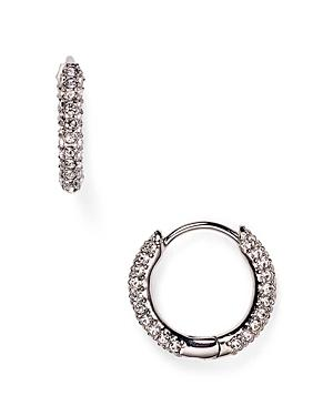 Nadri Swarovski Crystal Hoop Earrings