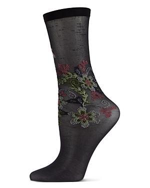 Natori Cyprus Floral Crew Socks