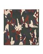 Jane Carr Camo Print Pocket Square