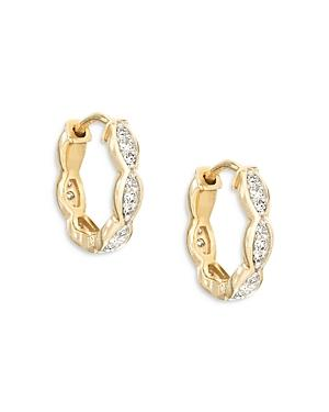 Adina Reyter 14k Yellow Gold Diamond Huggie Hoop Earrings