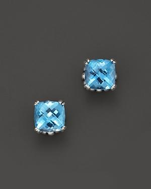 Lagos Sterling Silver Prism Blue Topaz Stud Earrings