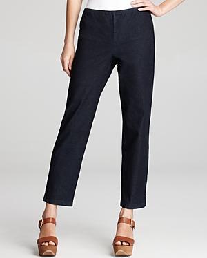 Eileen Fisher Petites Slim Pants With Side Zip