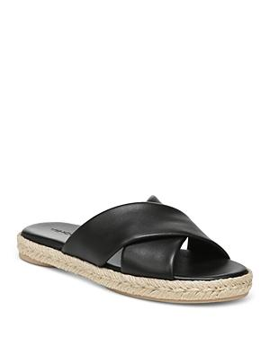 Vince Women's Selene Crossover Leather Espadrille Slide Sandals