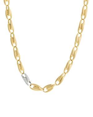 Marco Bicego 18k Yellow & White Gold Legami Diamond Chain Necklace, 17.75