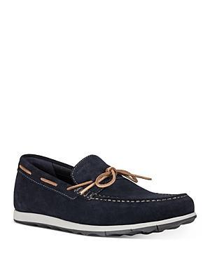 Geox Men's Calarossa Moc Toe Suede Boat Shoes