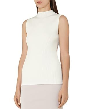 Reiss Charlie Mock-neck Ribbed Top
