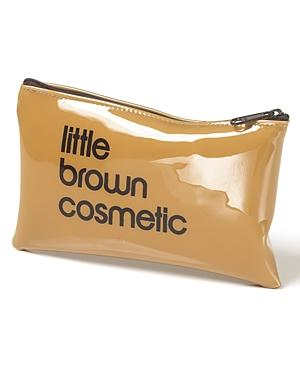 Bloomingdale's Little Brown Cosmetic Case