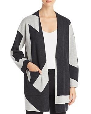 Eileen Fisher Petites Wool Color Block Cardigan