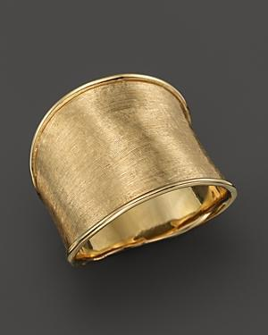 Marco Bicego 18k Yellow Gold Engraved Lunaria Ring